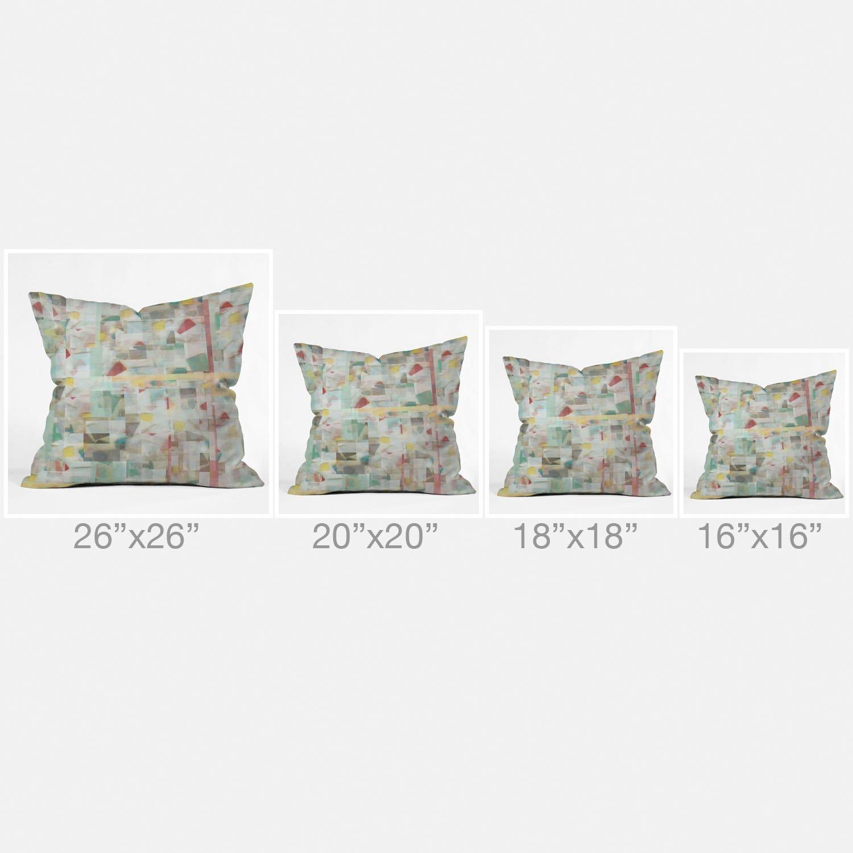 Deny Designs Jacqueline Maldonado Tribal Triangles 2 Throw Pillow 18 x 18 50786-thrpi7