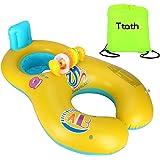 Ttath Gonfiabile per madre e Bambini Baby Float Piscina Neonati 1-2 anni Presidenza molle di sicurezza del sedile