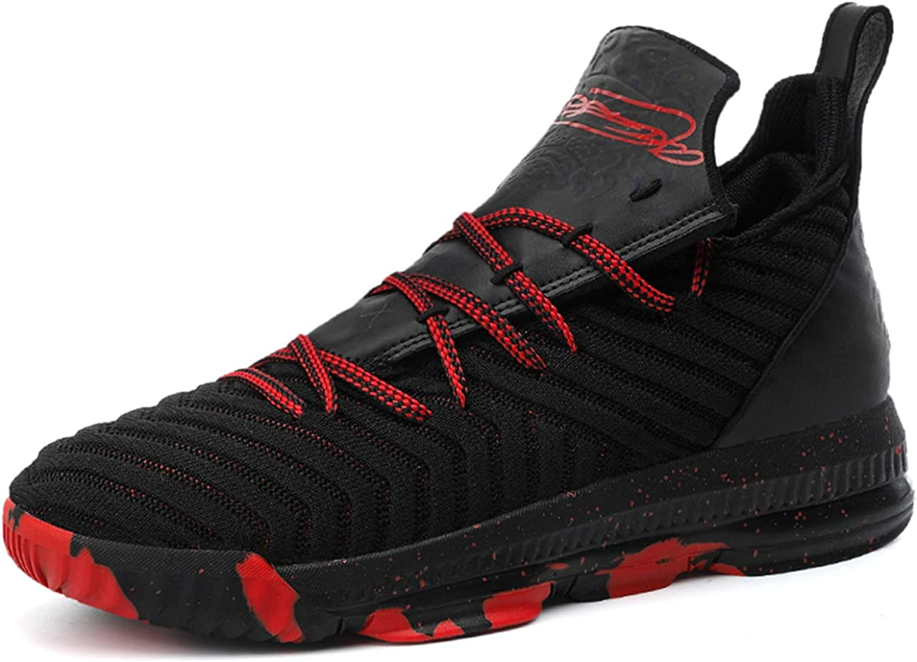 QJRRX Zapatillas de Baloncesto para Hombre Zapatillas de Deporte al Aire Libre de Primavera Zapatillas de Gimnasia para Correr Zapatillas Deportivas 36-47