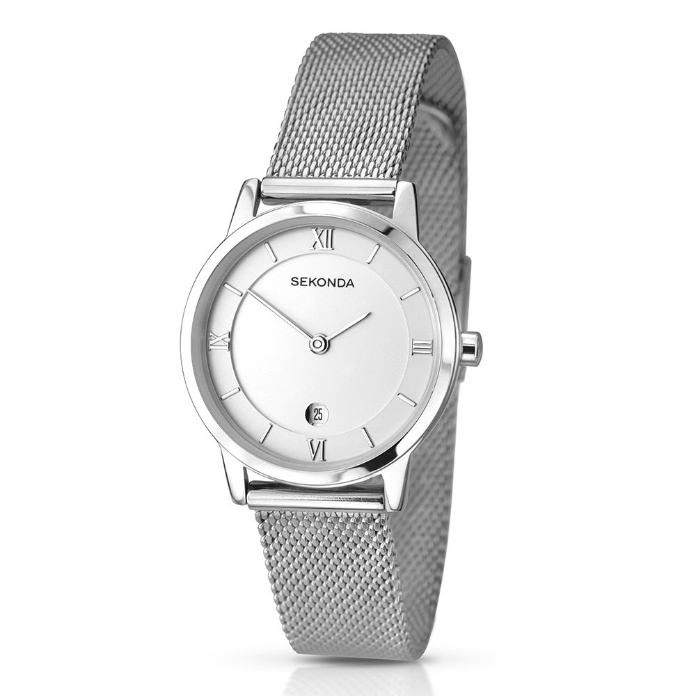 9da0c97f62f8 Sekonda Women s Quartz Watch with Silver Dial Analogue Display and Silver  Stainless Steel Bracelet 2101.27  Amazon.co.uk  Watches