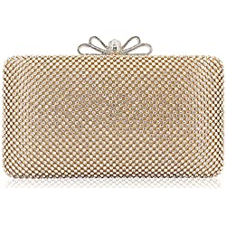 Rhinestone Crystal Clutch Gold