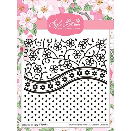 Apple Blossom All Occasion Embossing Folder Dotty Floral