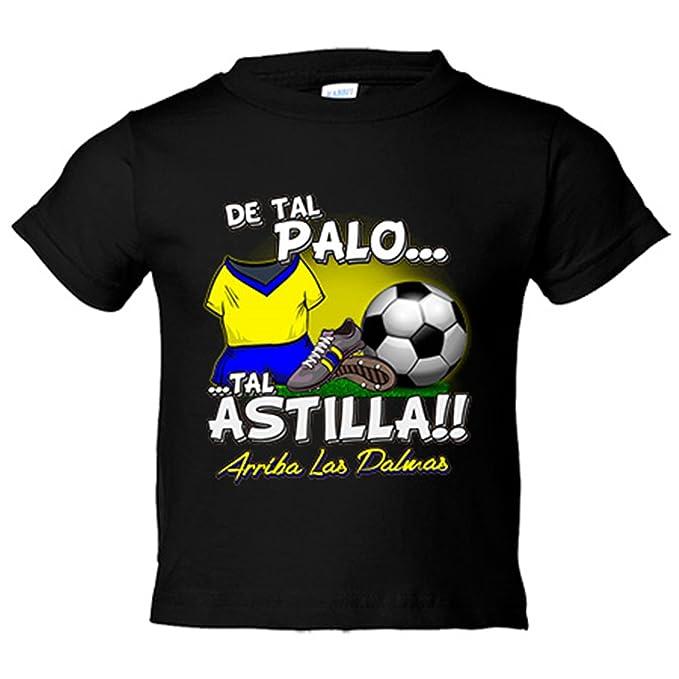 Camiseta niño De tal palo tal astilla Las Palmas fútbol - Amarillo, 3-4 años: Amazon.es: Bebé