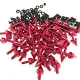 XKH GROUP Universal Spike Bolt Screws MC Sportbike For Kawasaki Ninja EX250 ZX14 ZX7 ZX9R RED Motorcycle new