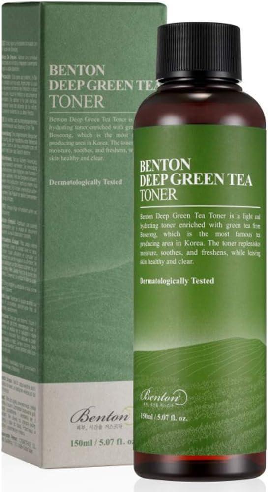 BENTON Deep Green Tea Toner 150 (5.07 fl.oz.) - Nourishing & Hydrating Facial Toner for Oily and Sensitive Skin, Skin Soothing & Purifying