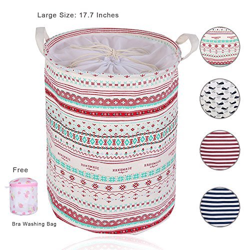 AOWIN Laundry Basket For Dorm, Collapsible Waterproof Dirty