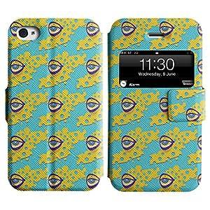 LEOCASE el ojo Funda Carcasa Cuero Tapa Case Para Apple iPhone 4 / 4S No.1003064