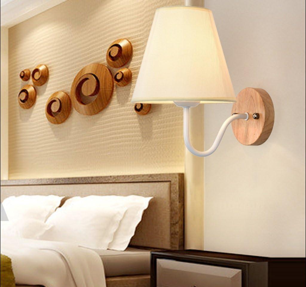 *applique da parete interno Applique E27-LED applique da parete a luce calda in tessuto applique da parete illuminazione camera da letto (colore : B) A
