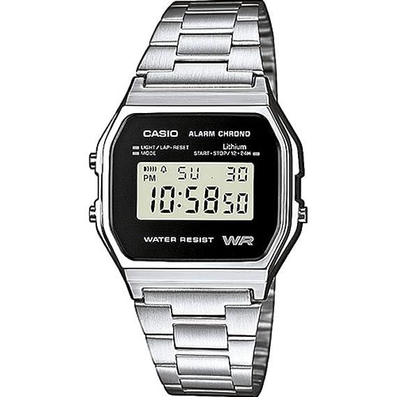 6698ee6fb52dab Casio Orologio Digitale Uomo con Cinturino in Acciaio Inox A158WEA-1EF:  Casio: Amazon.it: Orologi