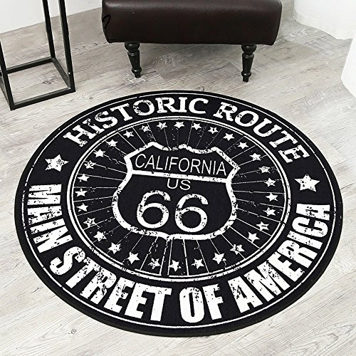 HOMEE Modern simple round non-slip carpet living room coffee table bedroom desk computer chair foot pad round blanket pad,110Cm by HOMEE