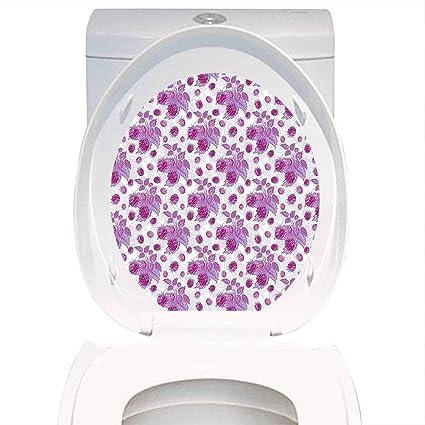 Amazoncom Qianhe Home Toilet Seat Sticker Mauve Decor Vibrant