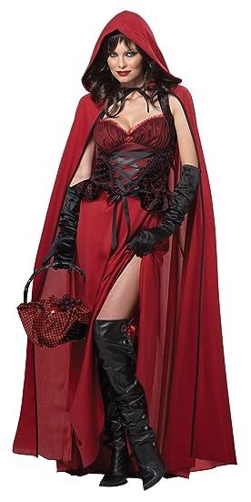 Elegante disfraz de Caperucita Roja sombría beige multicolor extra ...