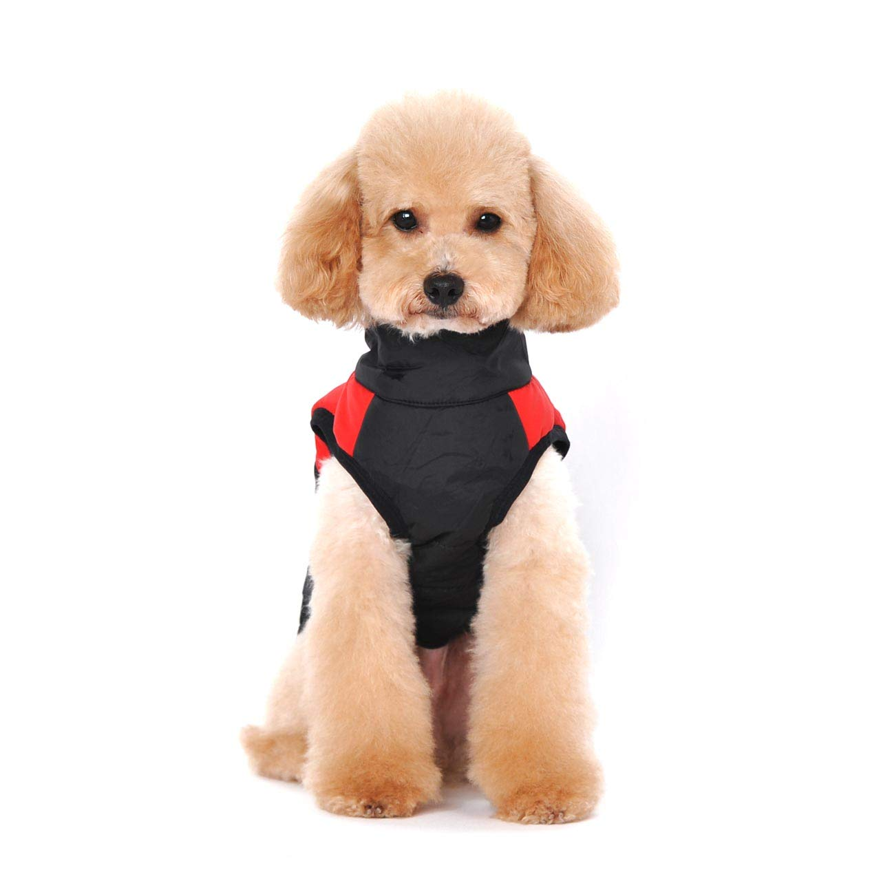 Ericoy Waterproof Dog Coat Jacket Warm Padded Puffer Pet Dog Puppy Clothes Vest Red,XL