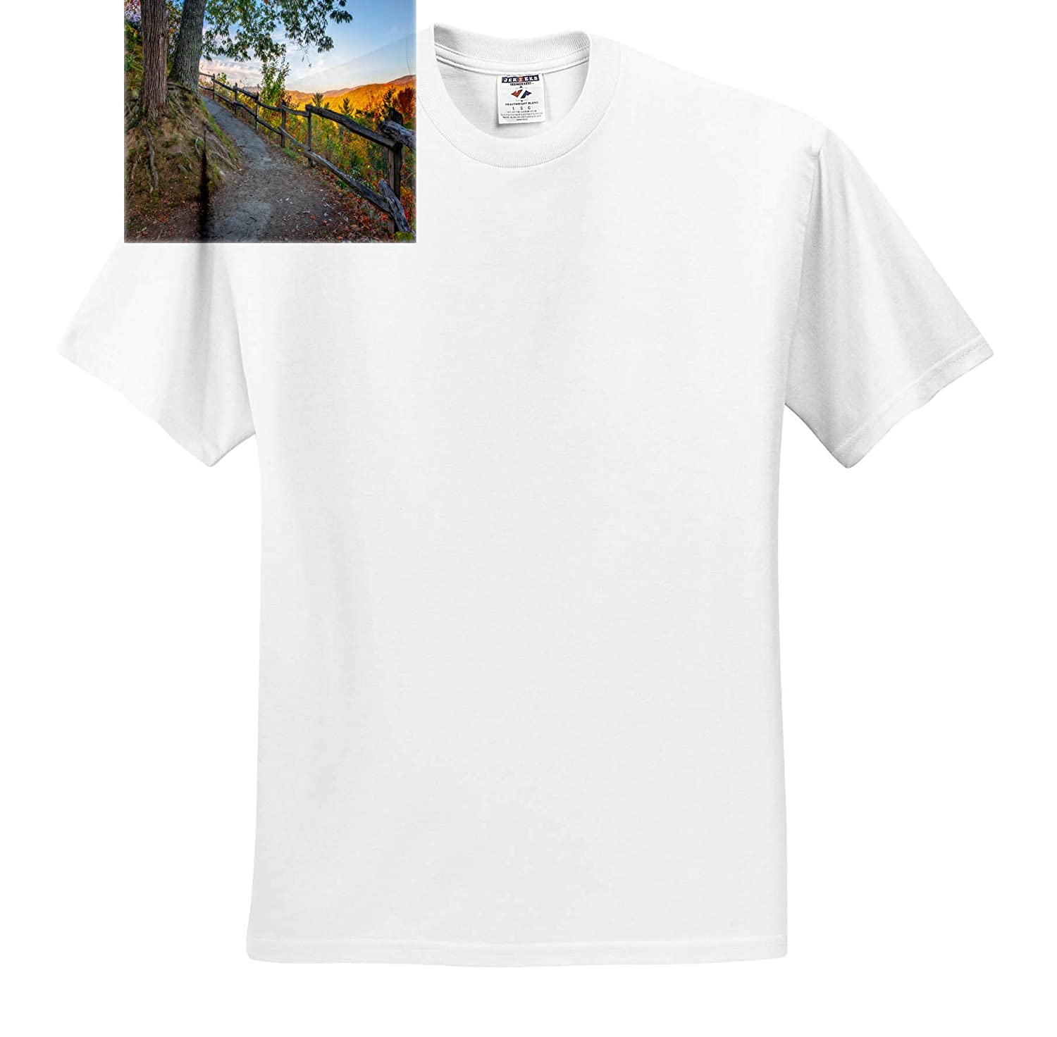 T-Shirts Landscapes Autumn Sunrise on The Trail 3dRose Mike Swindle Photography