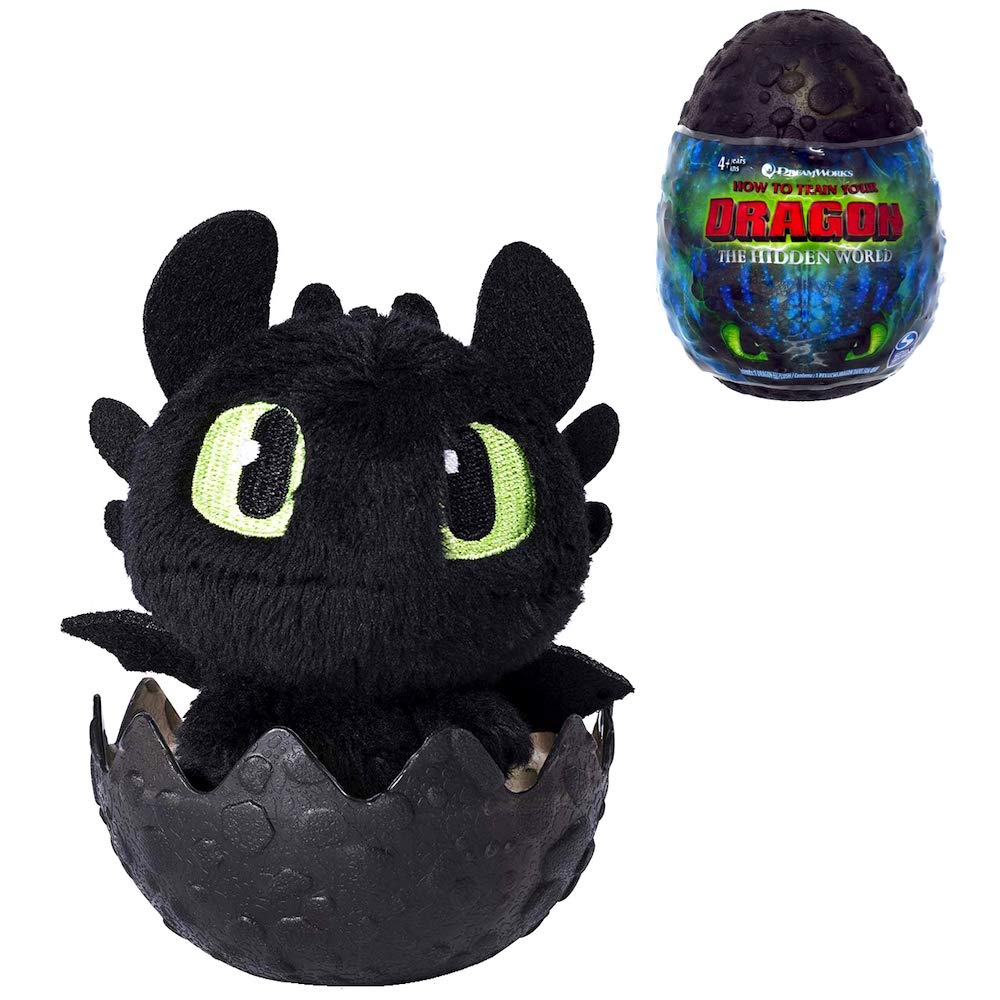 "Toothless How to Train Your Dragon The Hidden World Plush Figure 3"" Factory Sealed"