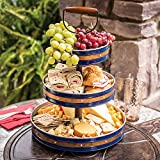 Copper-Banded 3-Tier Multipurpose Display Serving Stand (Blue) Review
