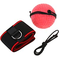 Yuehuam Boxing Reflex Ball Training Speed Ball Portable Pro Boxing with Head Band for Fitness,MMA,Punch Accuracy and Hand Eye Coordination - Adult/Kids Gym