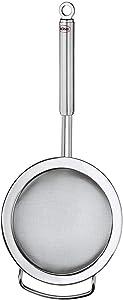 Rösle Stainless Steel Round Handle Kitchen Strainer, Fine Mesh, 7.9-inch