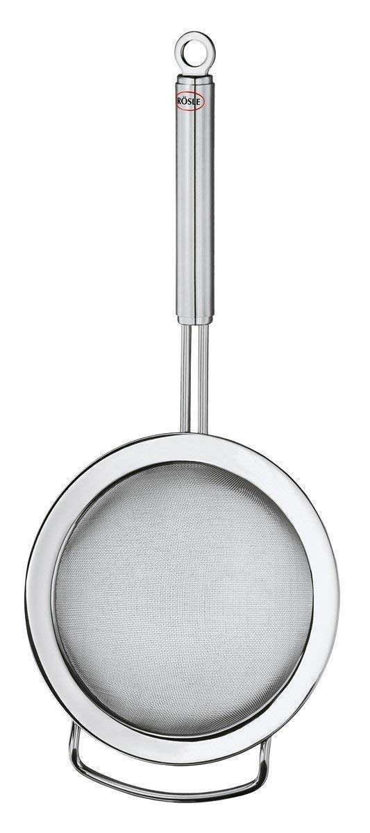 Rösle Stainless Steel Round Handle Kitchen Strainer, Fine Mesh, 7.9-inch by Rosle (Image #1)