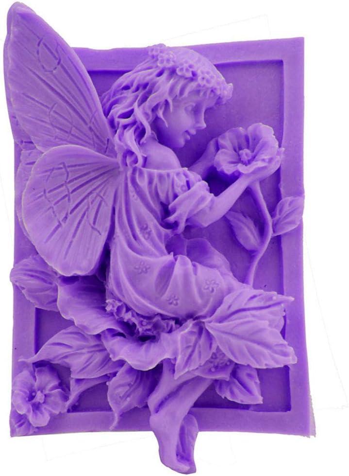 Meiyiu Silicone Flower Faerie Shape Fondant Cakes Baking Mold