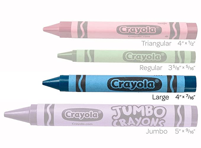 Amazon.com: Crayola Ultra-Clean Washable Large Crayons, Bulk Set, 12 ...