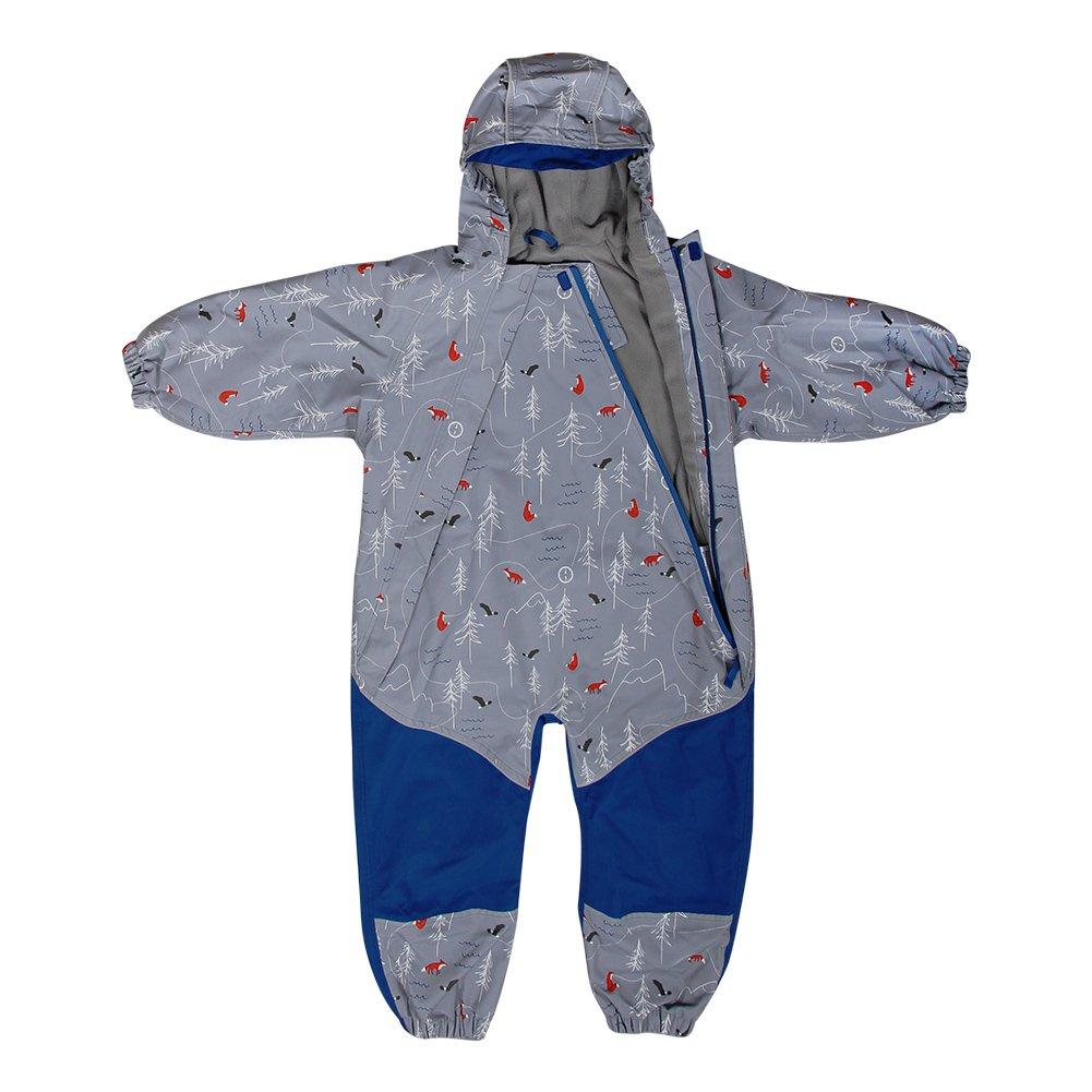 JAN & JUL Kids Water-Proof Fleece-Lined Rain Suit One-Piece Hooded (The Rockies,2T)
