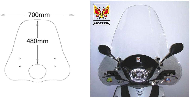 PARABREZZA PARAVENTO ISOTTA PER HONDA SH 125//150 2009-2012 CON ATTACCHI