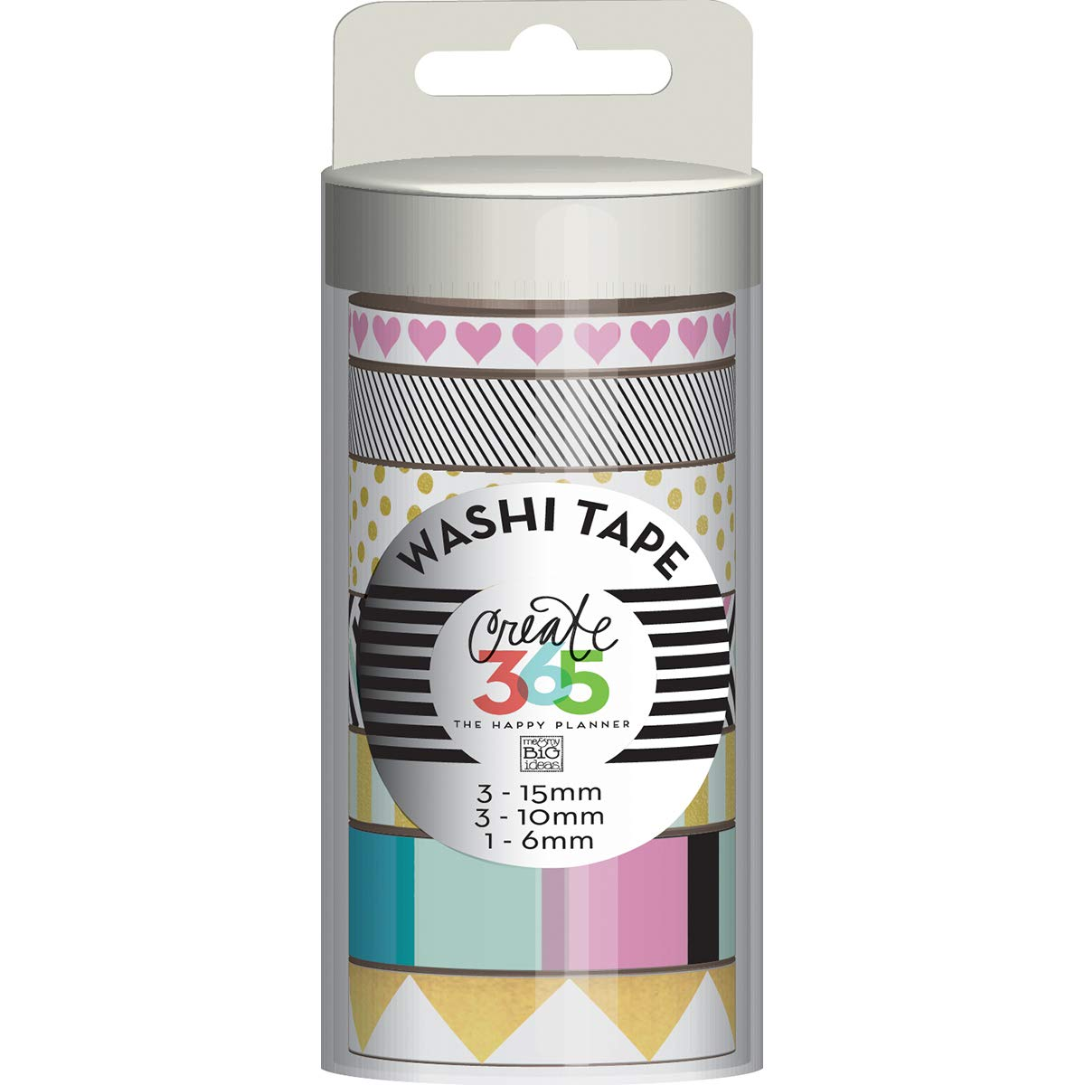 Me and My Big Ideas Create 365 Collection Washi Tape Black and White (12 Pack)