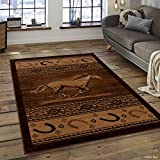 Allstar 5 X 7 Berber Woven Soft Southwest Horse Shoe Theme Area Rug (5′ 2″ X 7′ 2″) Review