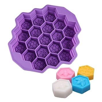 Nueva 19-cavity Mini molde de panal de abeja molde de silicona para jabón casero