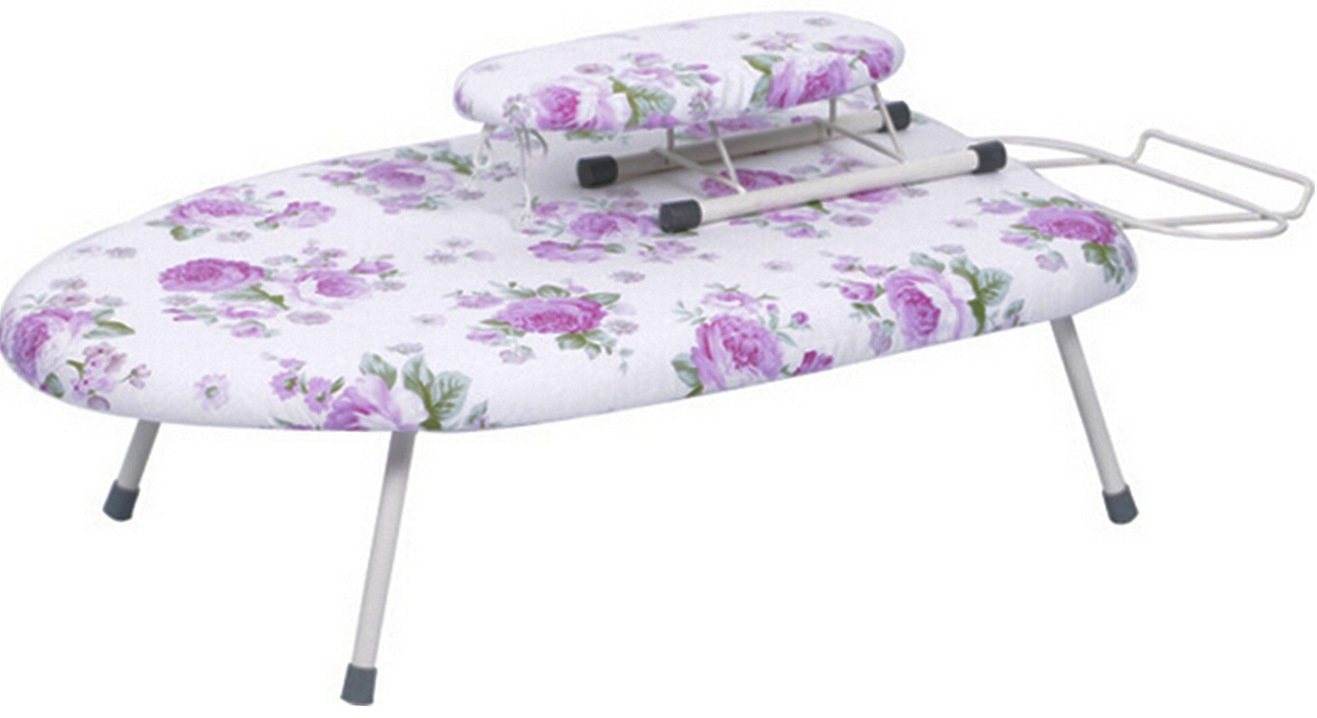 Mini Tabletop Ironing Board Blue with Folding Legs with Ironing Board for Sleeve