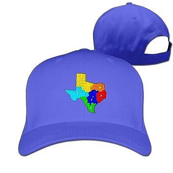 Huseki Texas Ranger Division Companies Map Unisex Fashion Adjustable Pure  100% Cotton Peaked Cap Sports 8736121ff70