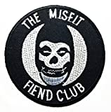 Misfits Rock Music Band Patch Embroidered Iron on Hat Jacket Hoodie Backpack Ideal for Gift/ 7.7cm(w) X 7.7cm(h)