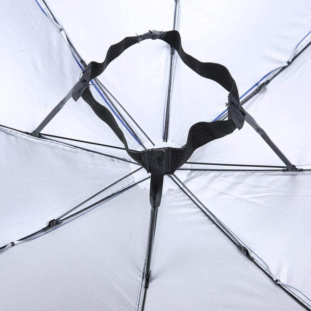 Wifehelper Paraguas Anti-UV montado en la Cabeza sombrilla con protecci/ón Solar 65cm #1 sombrilla a Prueba de Lluvia