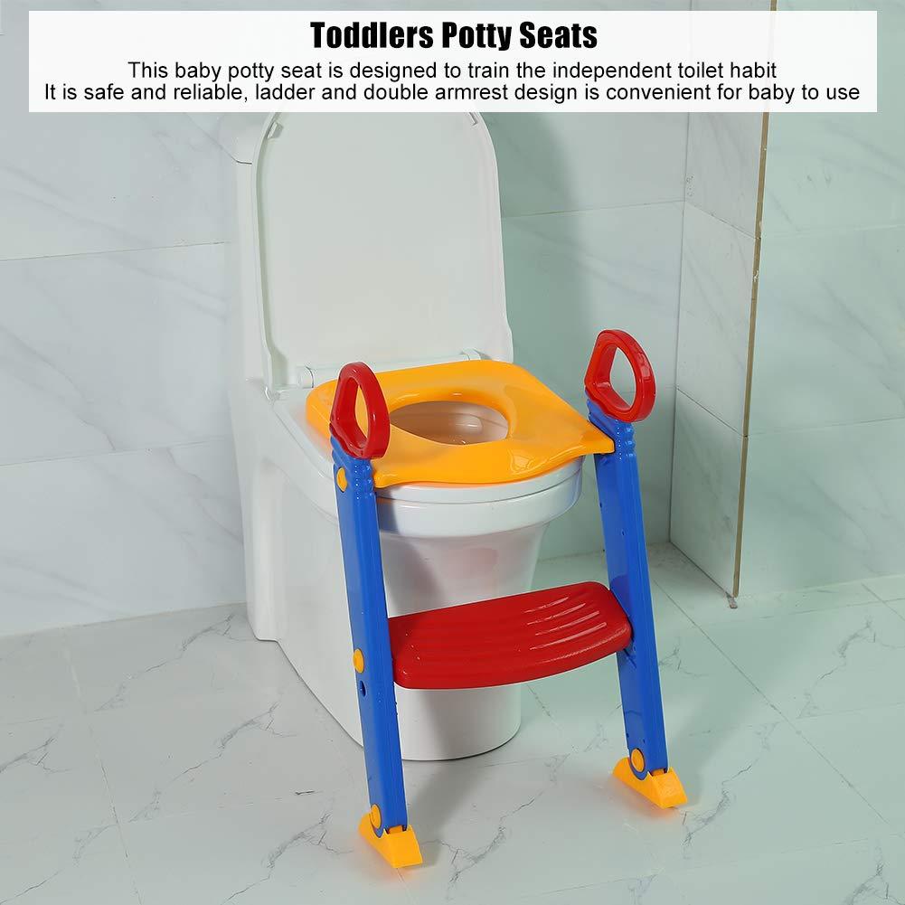 Toilettentrainer mit Treppe Lerntöpfchen Baby Toilettensitz 67*37*9cm DE