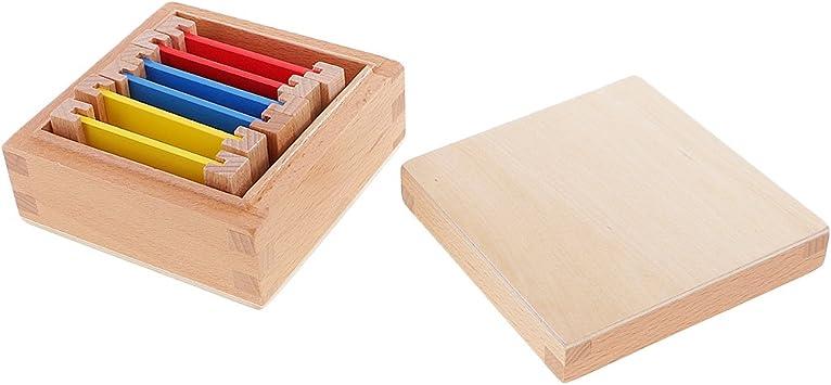 Sharplace Montessori Caja Sensorial de Madera Ejercicios de ...