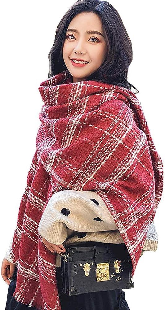 Women's Plaid Blanket...