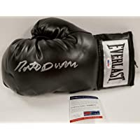 $120 » Roberto Duran signed Black Everlast Boxing Glove Autograph ~ COA - PSA/DNA Certified - Autographed Boxing Gloves