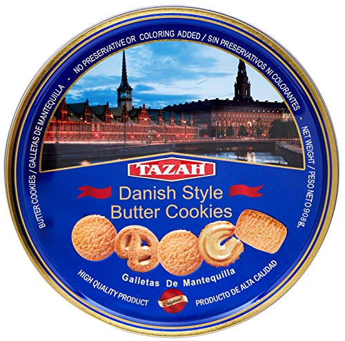 Tazah Danish Style Butter Cookies 32 Ounce 1 Pack