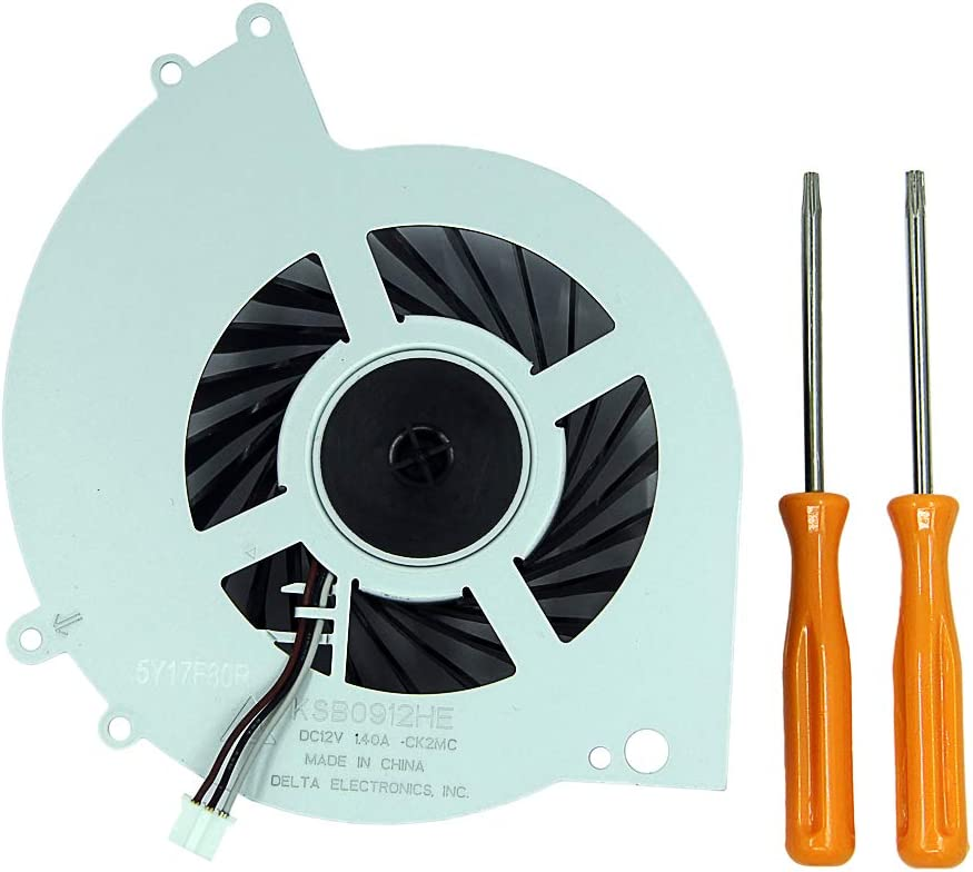 Replacement Internal Cooling Fan KSB0912HE for Sony Playstation 4 PS4 CUH-12XX Series CUH-1200 CUH-1200AB01 CUH-1200AB02 1215A 1215B + Disassembling Tool