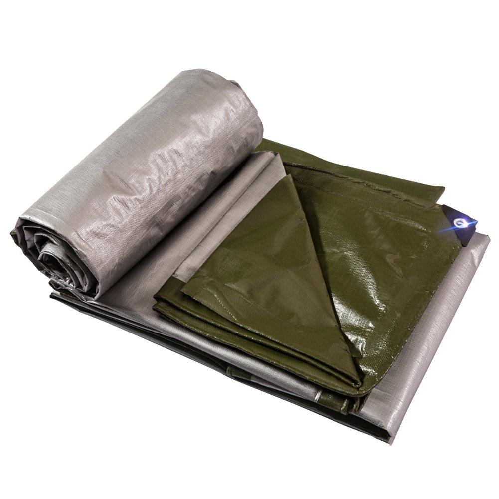 LIXIONG オーニング ターポリン テント 屋外 防水 日焼け止め 耐寒性 絶縁 トラック倉庫 防塵の 抗UV サイズはカスタマイズ可能です (色 : Dark green+silver, サイズ さいず : 4.8x9.8m) B07FVQ5JKX 4.8x9.8m|Dark green+silver Dark green+silver 4.8x9.8m