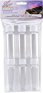 Darice Clear Plastic Empty Bottle with Flip Caps, 2-Ounce, 6 Count