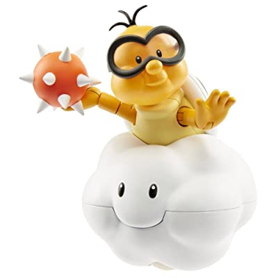 "World of Nintendo Lakitu with Spike Ball Action Figure, 4"": Toys & Games"