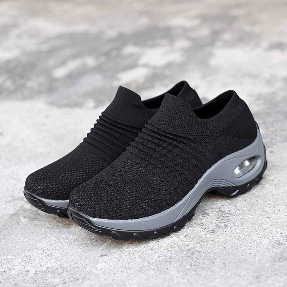 TIFENNY Mesh Shoes Thick Bottom Platform Shoes Soft Bottom Air Cushion Womens Shoes Rocking Shoes Sneakers Emma