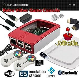 Gurumediabox 32gb raspberry pi 3 retropie retro game console emulation station mini - Retro game emulator console ...