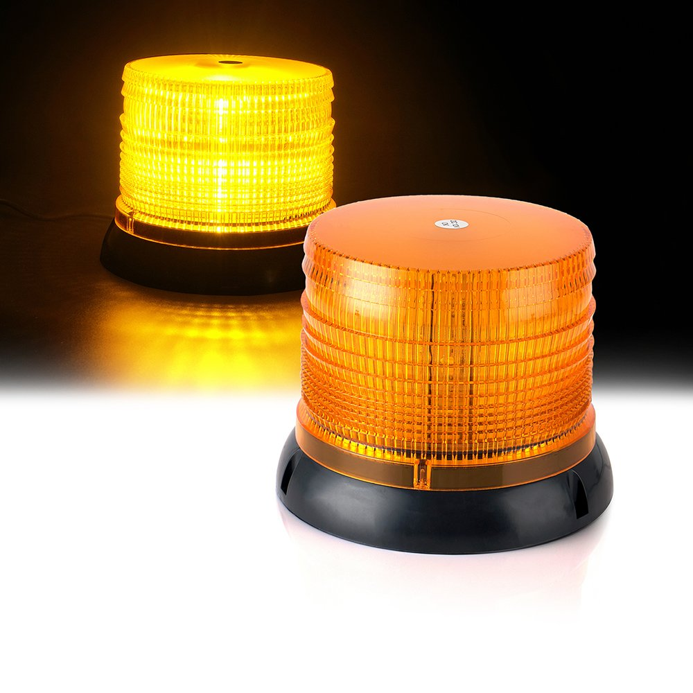 Xprite 6 14 Modes High Intensity Yellow Amber Revolving 12 LED 36W LED Emergency Vehicle Magnetic Mount Strobe and Rotating Beacon Warning Light