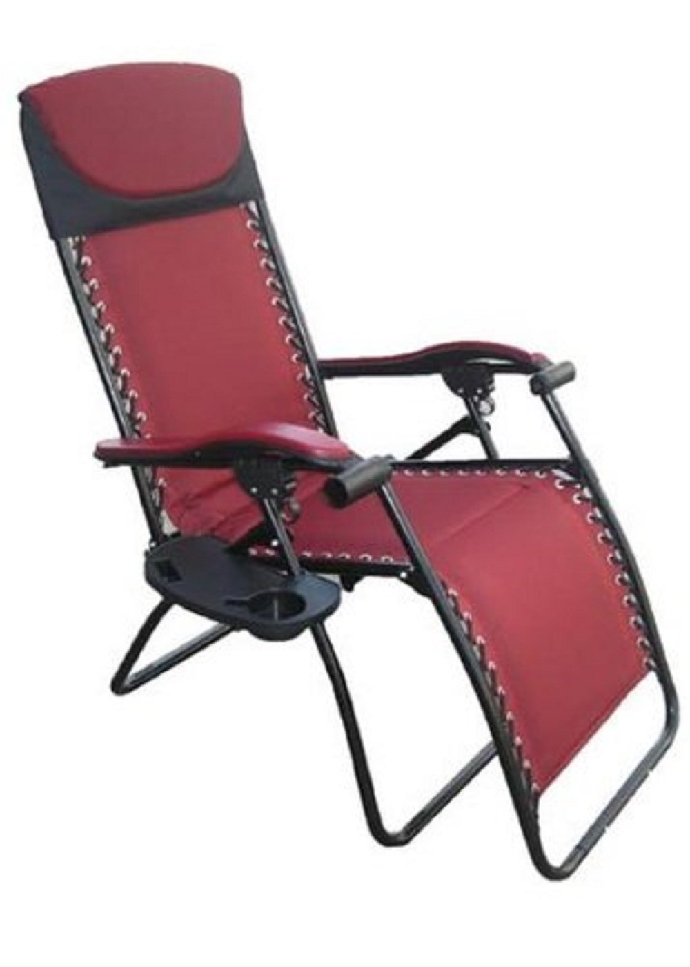Extra large zero gravity chair - Amazon Com Wilcor Deluxe Large Zero Gravity Fully Reclining Lounge Patio Folding Chair Burgandy Red Garden Outdoor