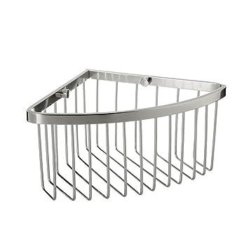Eck-Duschregal aus Aluminium Silber/OHNE BOHREN/Nano ...