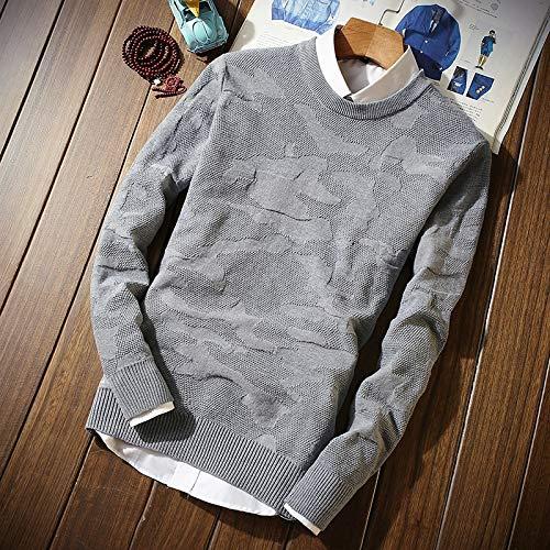 CHENGZI Winter Dünnschnitt Rundhals Mann Pullover   S Ml 2XL 3XL Blau Grau Grün Schwarz Schlank Und Bequem Herren Pullover