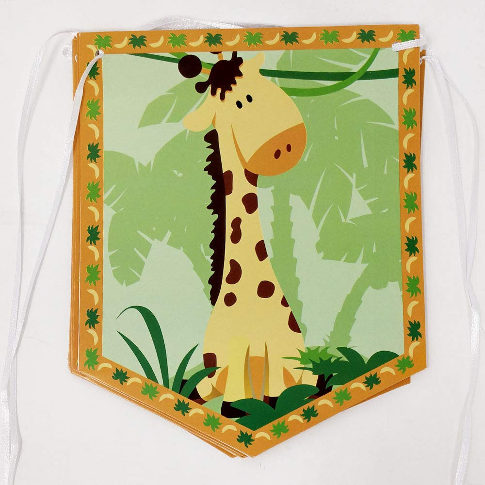 Safari Banners Safari Birthday Party Decorations Jungle Party Supplies Hanging Room Decorations